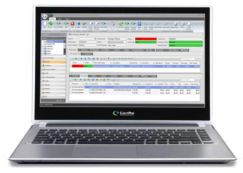 Venue management software facility resource scheduling for Wedding venue software